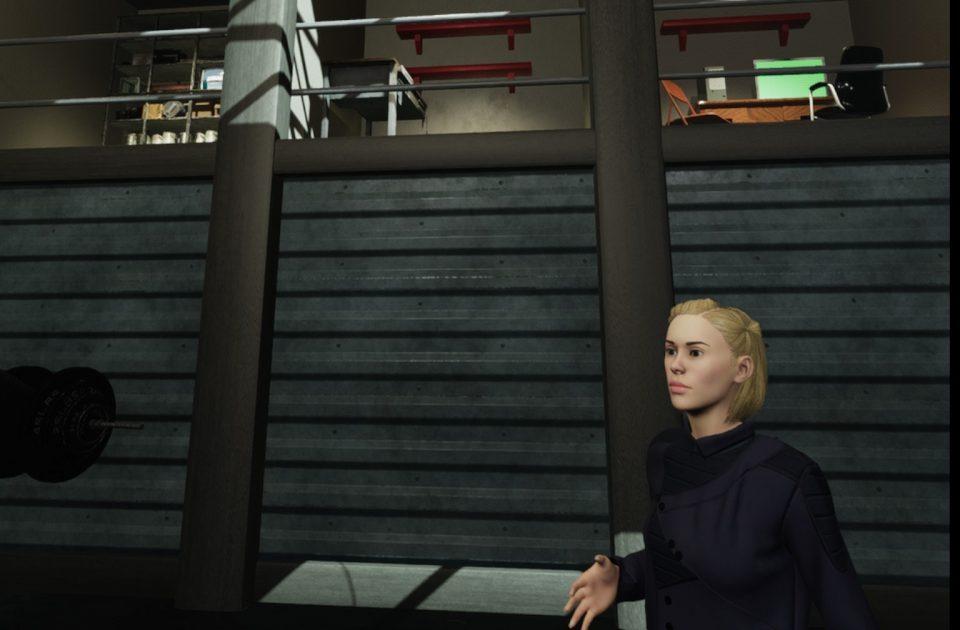 Naomi in a VR set at Lost Horizon Festival based on her regular Glastonbury performance venue SHITV Oculus Screenshot