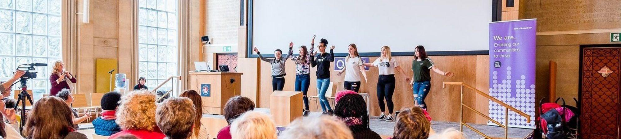 Merchants academy girls performing at iwd 2019 1